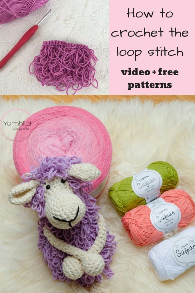 How to crochet the loop stitch - video tutorial and link to free patterns. Learn...