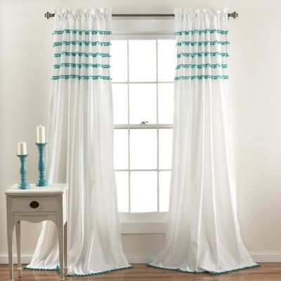 Lush Decor Aria Pom Pom Drape Panel & Reviews | Wayfair