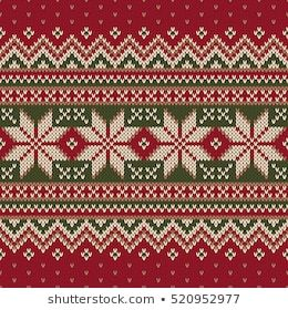Winter Holiday Fair Isle Knitted Pattern. Vector Seamless Knitting Wool Texture....