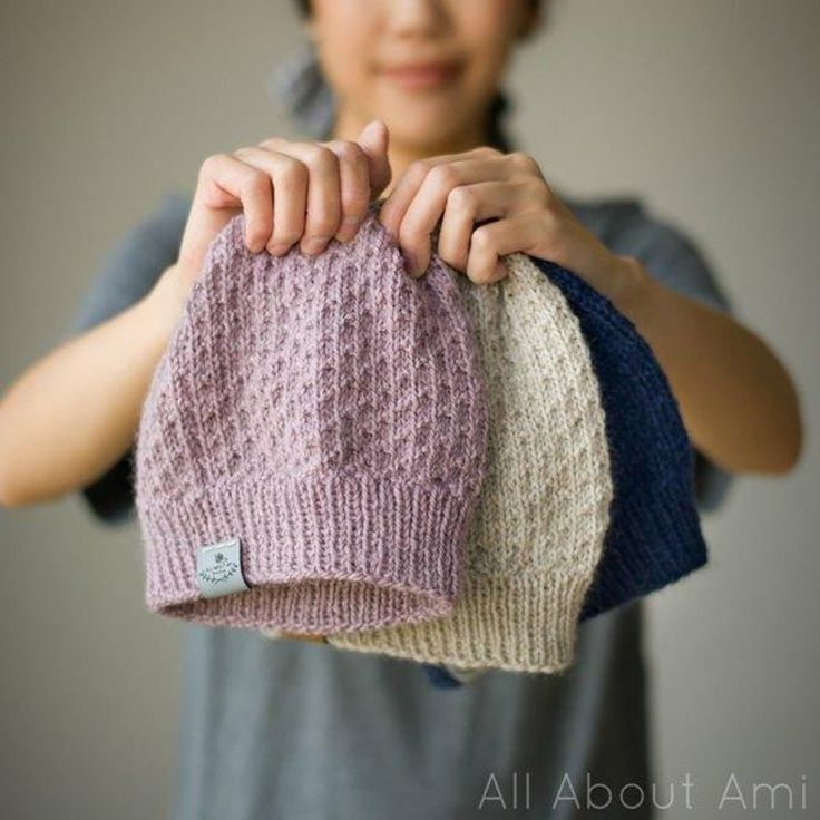 The Dotty Beanie & Duo-Color Dotty Beanie Knitting pattern by Stephanie Lau
