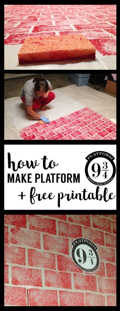DIY Harry Potter Platform 9 3/4 with free printable! Make your own Kings Cr ...