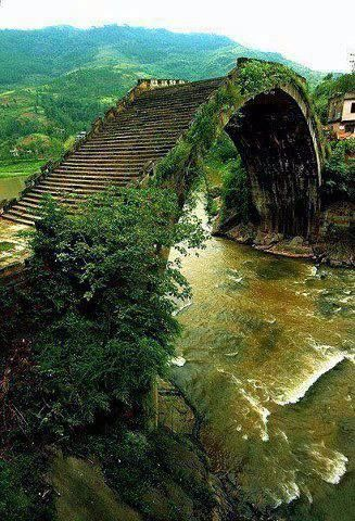 Beautiful old bridge in China. #travel #travelinspiration #travelphotography #ch...