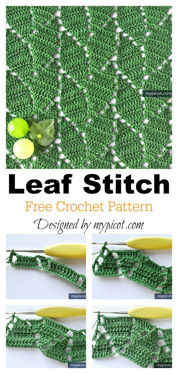 Leaf Stitch Baby Blanket Free Crochet Pattern #freecrochetpatterns #crochetleave...