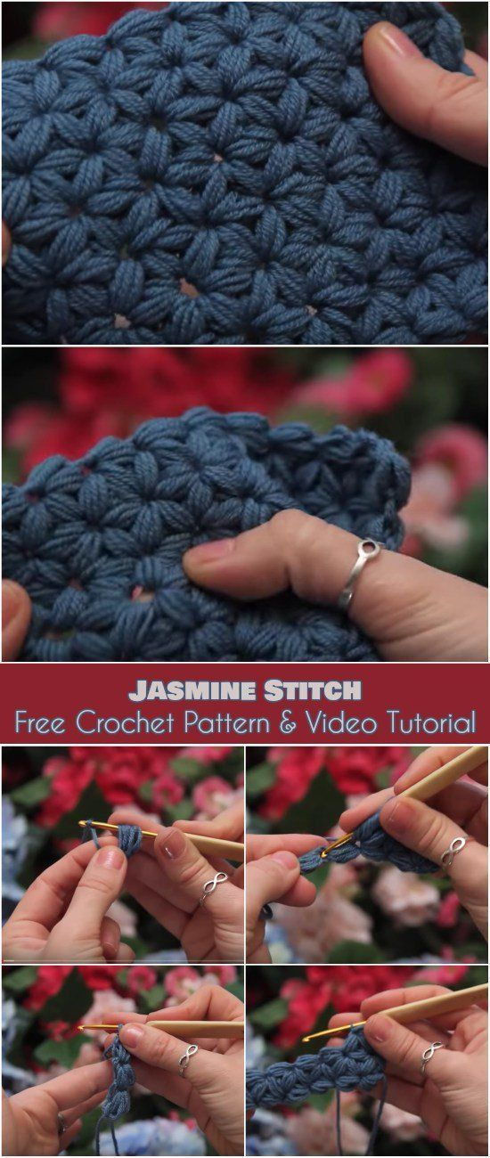 Jasmine Stitch #crochet #jasmin #knittingandcrochettutorials #pattern #stitch