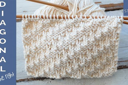 Diagonal stitch to the right knitting pattern video tutorial