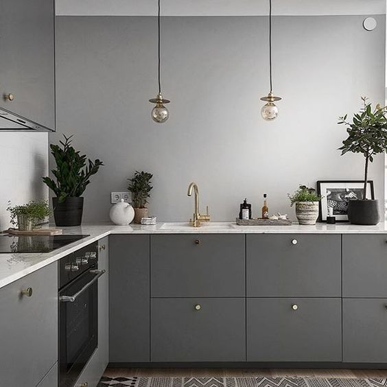 25 Timeless Gray Kitchen Decor Ideas | Gray is a timeless color, it never works ...
