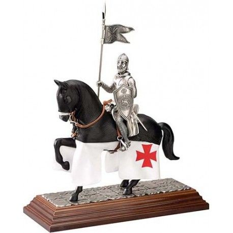 Mounted Templar Knight in Suit of Armor by Marto of Toledo Spain (Gualdrapa).