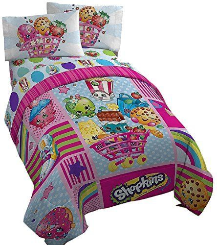 Adorable #Shopkins #Twin #Bedding in vibrant fun looking colors.  Your little Sh...