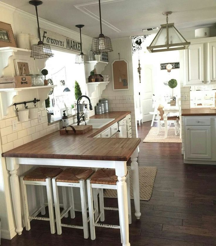 48 Top Farmhouse Kitchen Design Decor Ideas #kitchendesign #kitchenideas #kitche...