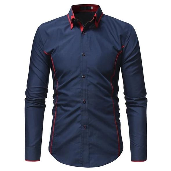 2018 Autumn Fashion Brand Camisa Masculina Long Sleeve Shirt Men Korea – lilig...