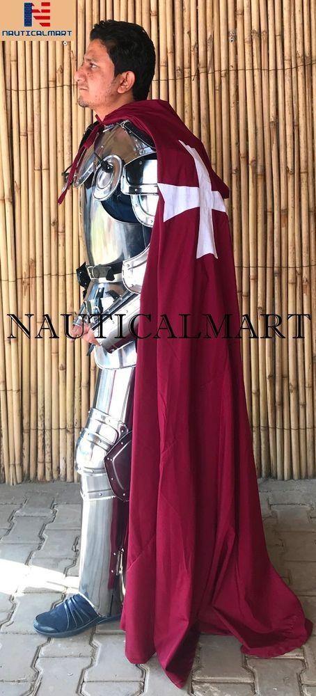 Medieval Templar Knight Suit of Armour W/Tunic Wearable Halloween Costume #Nauti...
