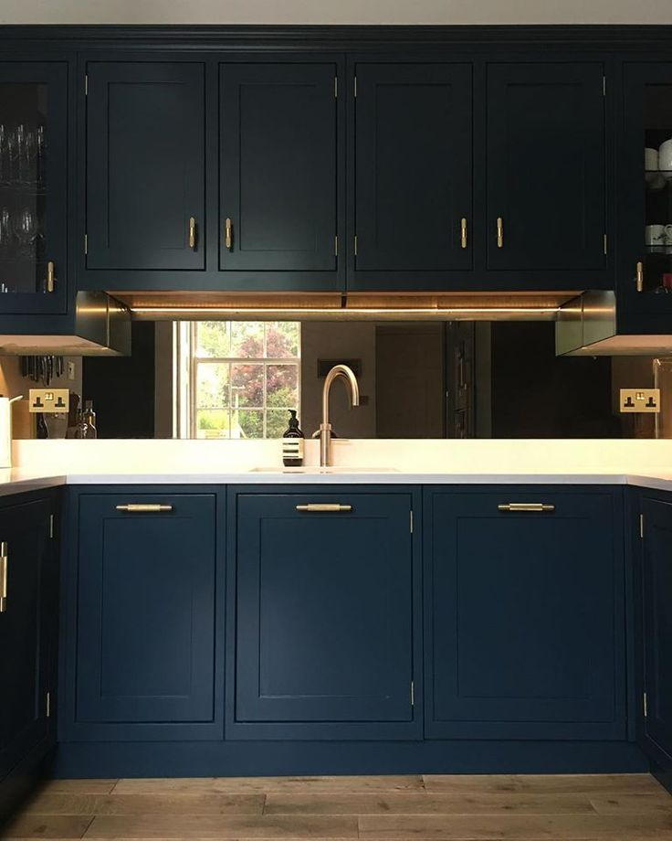 Inspiration and ideas for a kitchen colour scheme in Farrow & Ball's Hague B...