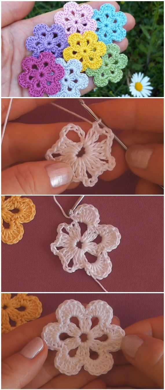Easy to crochet beautiful flowers, #flowers #simply #hakeln #schone