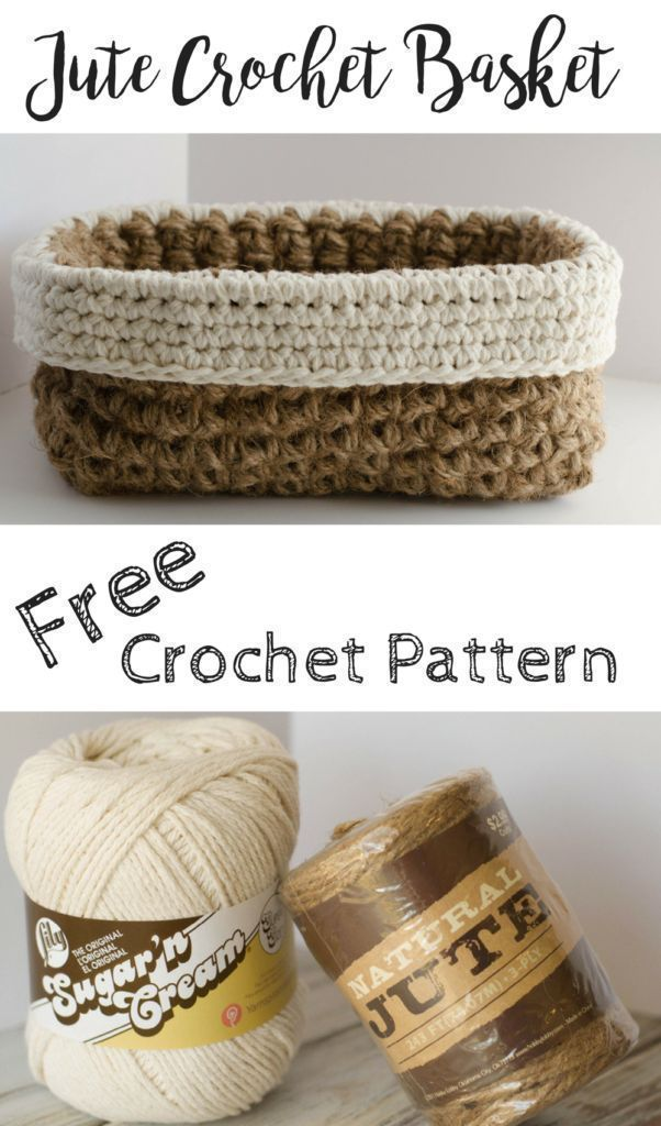 Click to see the picture. Crochet Jute Basket Pattern - #Basket #crochet #ju ...