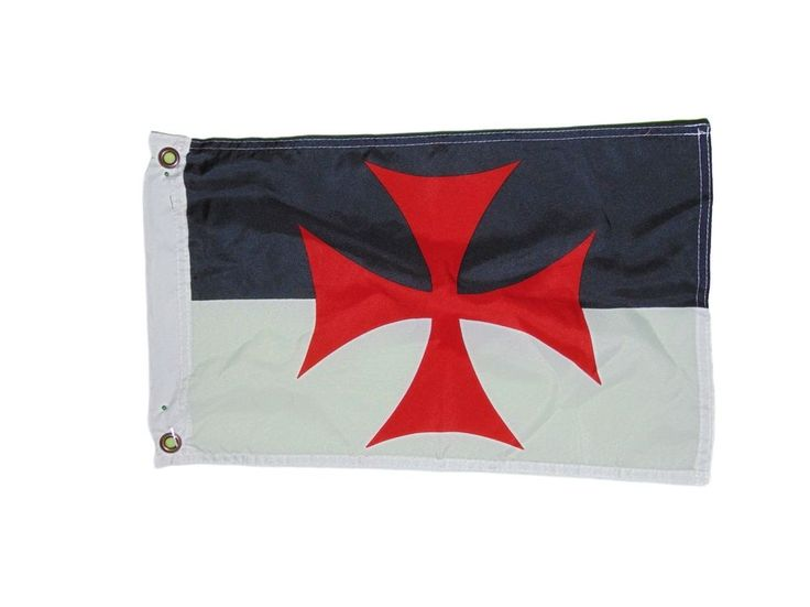 Templar Knights Battle Flag Polyester 12 X 18 Inches Boat Motorcycle Fort #QUARK...