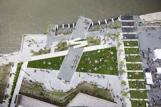 The Edge Park | Brooklyn USA | W Architecture & Landscape Architecture #landscap...