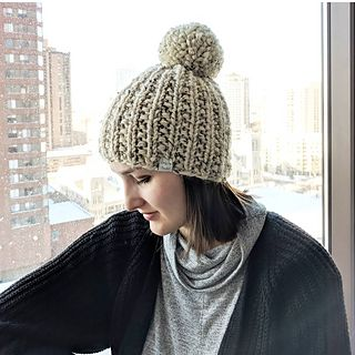KNITTING PATTERN: Downtown Beanie by Lady Jay Crochet. Modern textured knit hat....