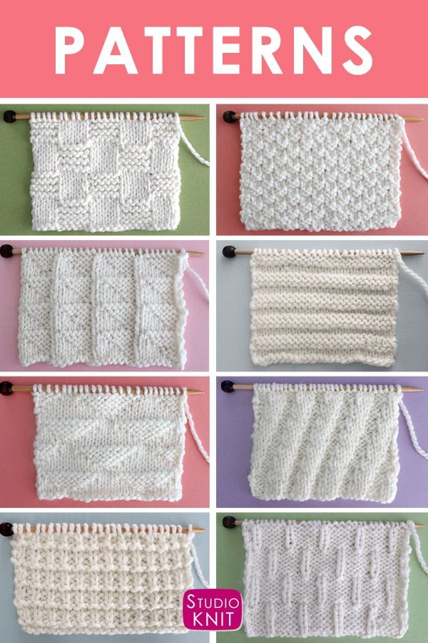 So many textures! Knit Stitch Pattern Book by Studio Knit with Written Instructi...