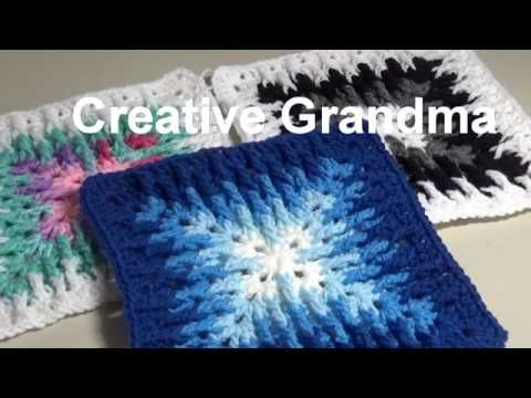 (2) Stitch of the Week # 91 Mosaic Granny Square - Crochet Tutorial - YouTube
