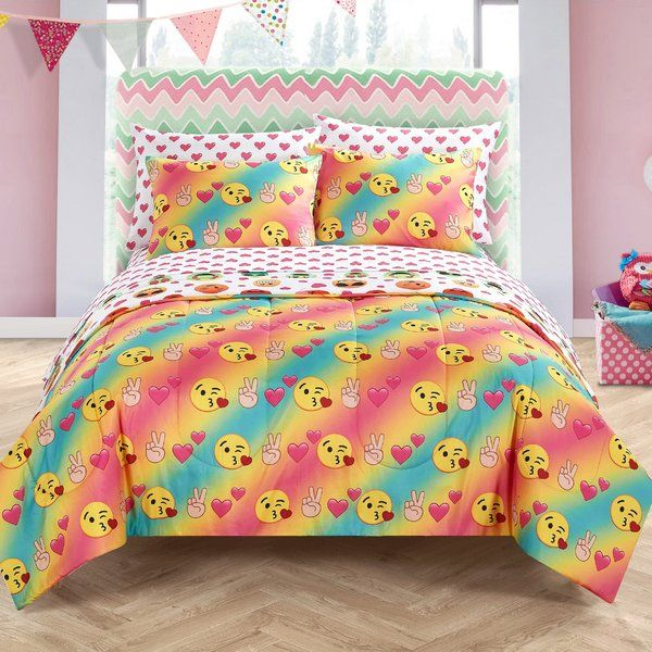Add some fun and excitement to your room with the Bed-In-A-Bag Bedding Set onlin...