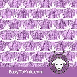 Textured Knitting 23: Wave | Easy to knit #knittingstitches #knittingpattern