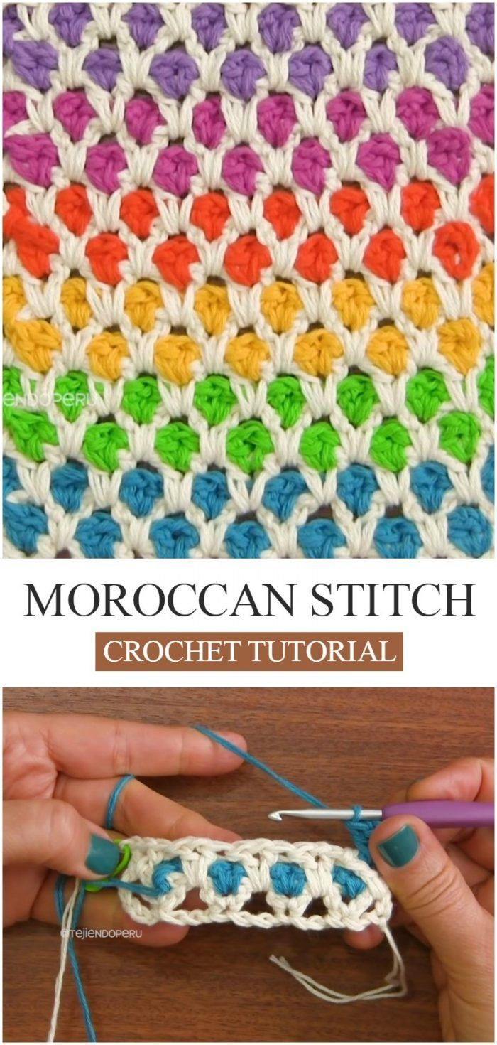 How To Crochet Moroccan Stitch. Learn how to crochet this flashy Moroccan stitch...