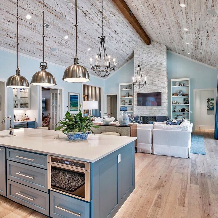 Brown and Blue Kitchen Ideas - Home Decor Bliss