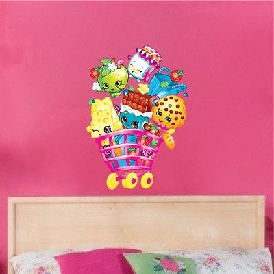 Girls Shopkin Bedroom Wall Decals