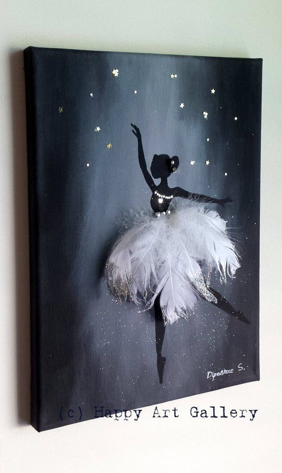Swan Ballerina - Gift for Nursery Nursery Kids Room Decor Nursery Nursery Decal Boy Room Decor Girl Room Decor Baby Art