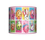 Shopkins – lampshade – 10″ drum – girls pink bedroom ceiling lamp shade