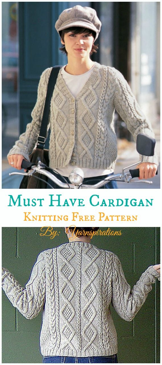 Must Have Cable Cardigan Knitting Free Pattern