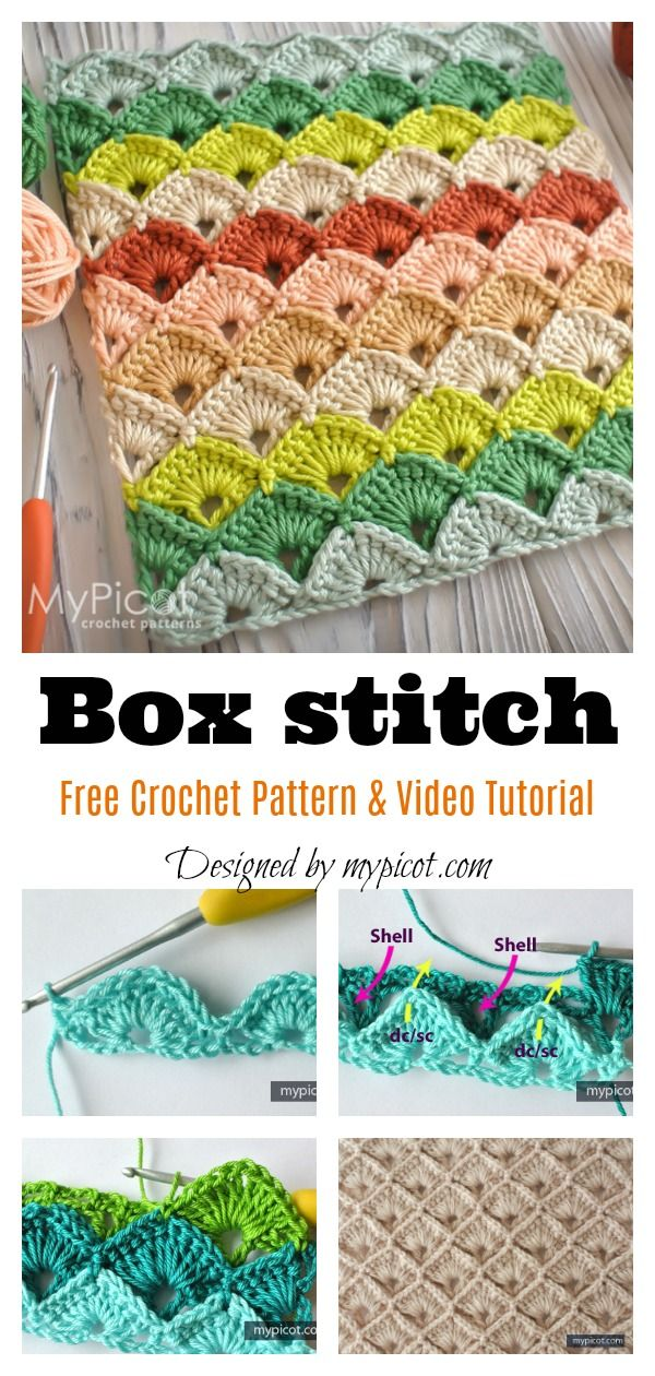 Box Stitch Free Crochet Pattern and Video Tutorial #coolcreativityfreepattern #f...