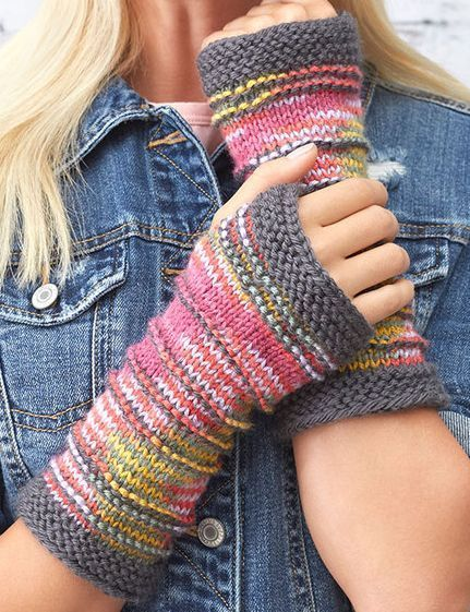 Free Knitting Pattern for Ridge Mitts - These fingerless mitts are designed to s...