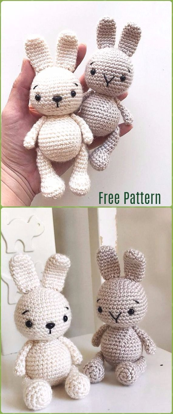 Crochet Zipzip Bunny Free Pattern - Crochet Amigurumi Bunny Toy Free Patterns