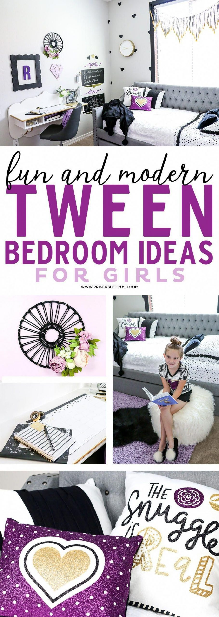 Redecorate your daughters bedroom with these fun and modern tween bedroom ideas!...