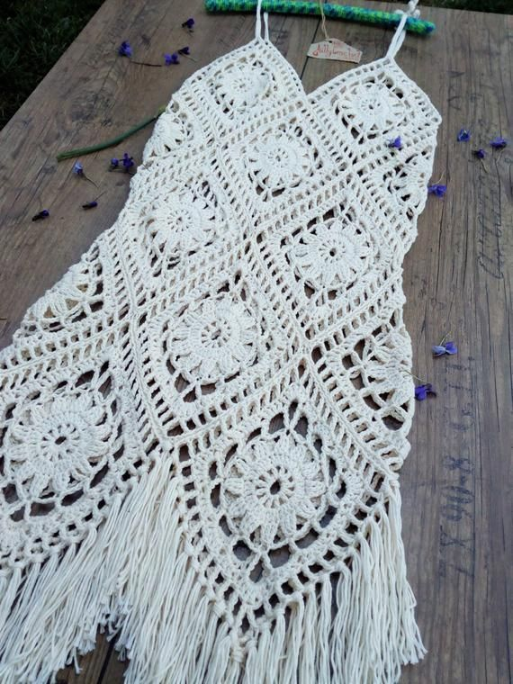 Crochet boho dress summer dress for dress