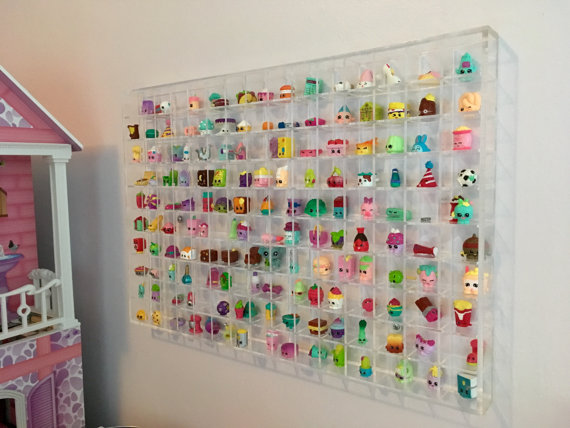 Wall Hanging Acrylic Showcase for Collectibles-150 Openings Compatible with Shopkins Large