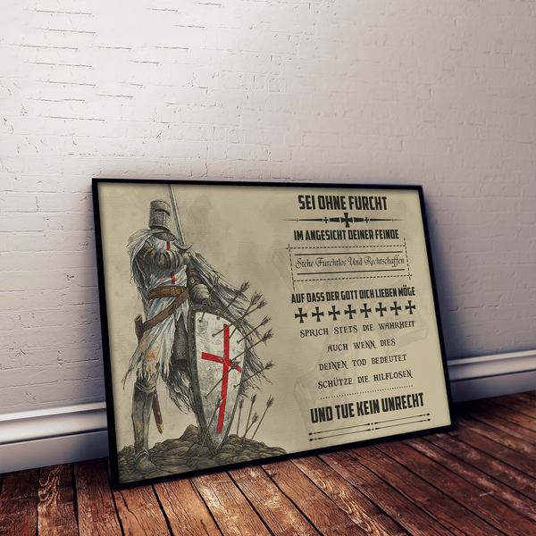 KT021 - Be Without Fear - German - Knight Templar Poster