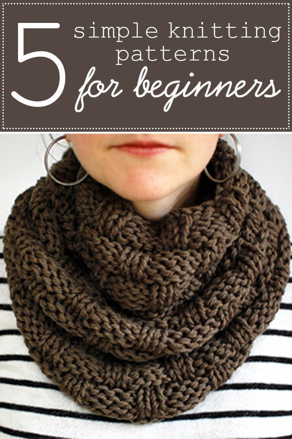 A great collection of five simple knitting patterns for beginners.  Each pattern...