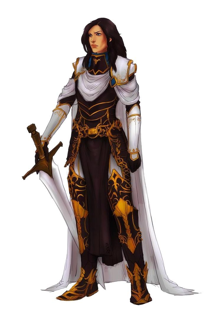 Female Human Paladin Knight Fighter - Pathfinder PFRPG DND D&D 3.5 5E 5th ed d20...