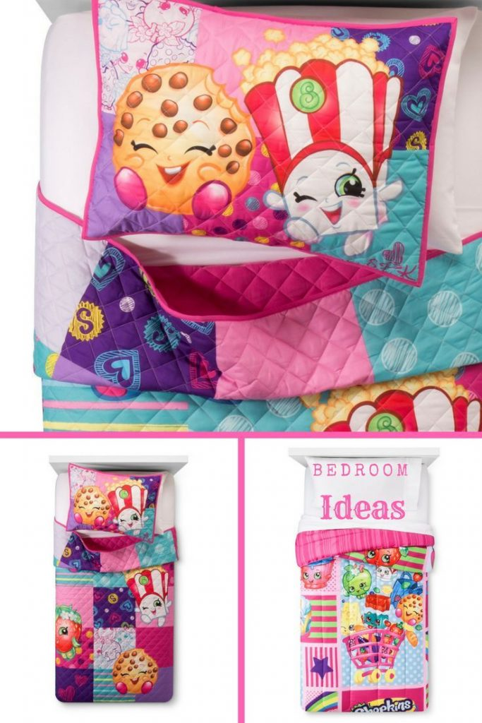 Shop bedroom Ideas! Kids Shopkins bed Sets! Adorable Bright Bedroom Sets! Comfor...
