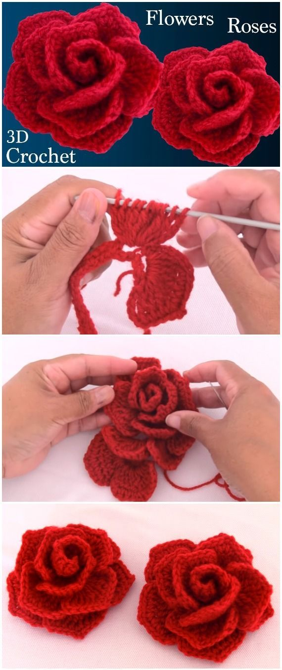 Just crochet red roses