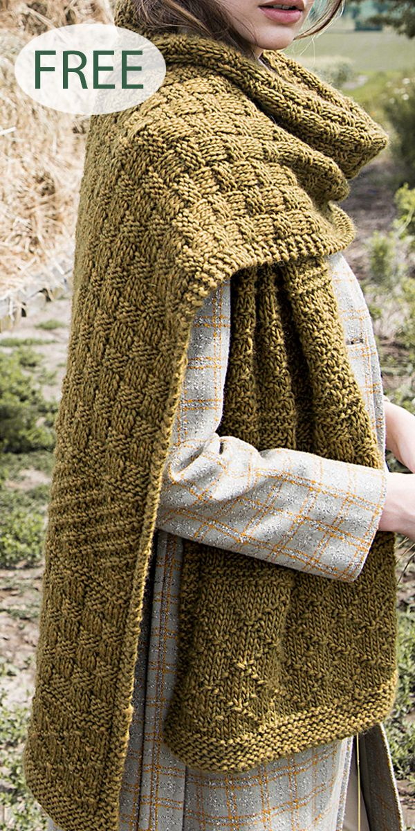 Free Knitting Pattern for Gansey Texture Mix Scarf - Scarf with alternating sect...