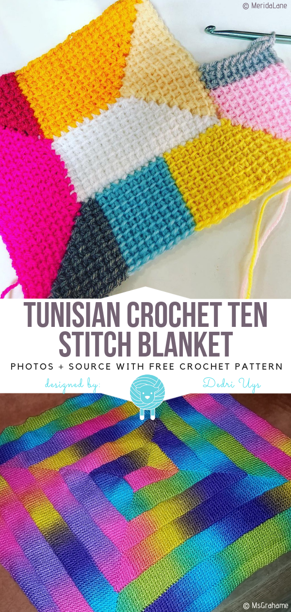 Tunisian Crochet Blankets Free Patterns