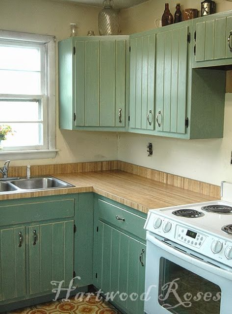 Hartwood Roses: Transforming Kitchen Cabinets with Chalk Paint