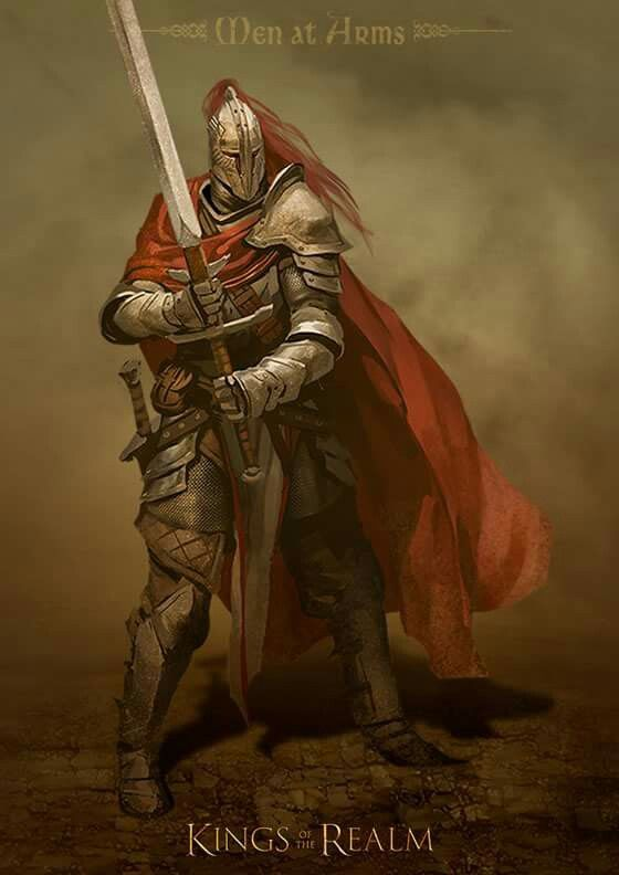 knight armor medieval fantasy male portrait arms paladin knights human realm kin...