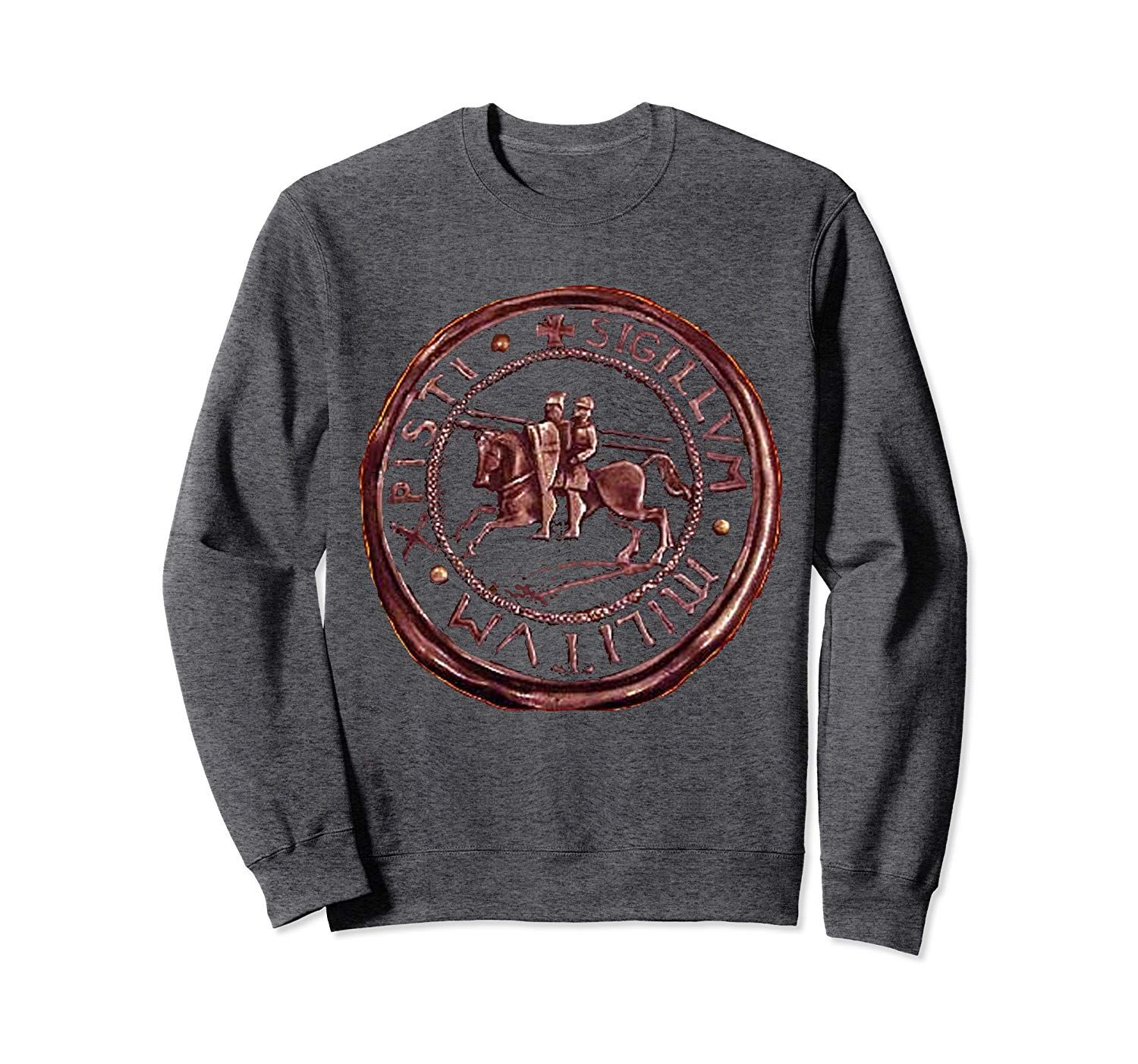 Templar Knight Seal Medieval Soldiers Of Christ's Army Logo Sweatshirt