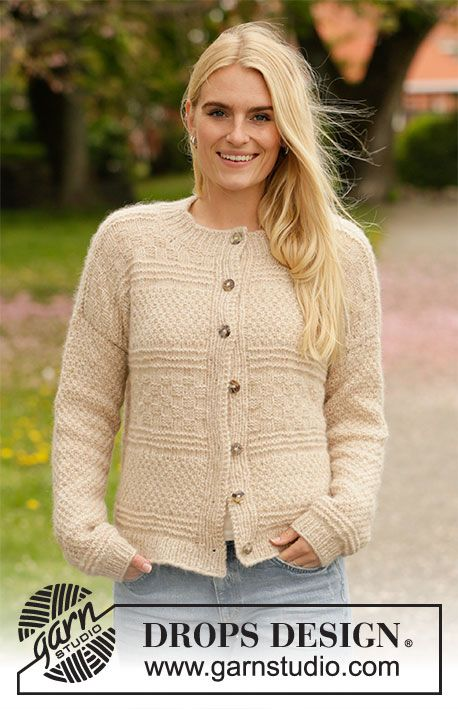 Weaving Memories Jacket / DROPS 207-36 - Free Knitting Patterns by DROPS ...