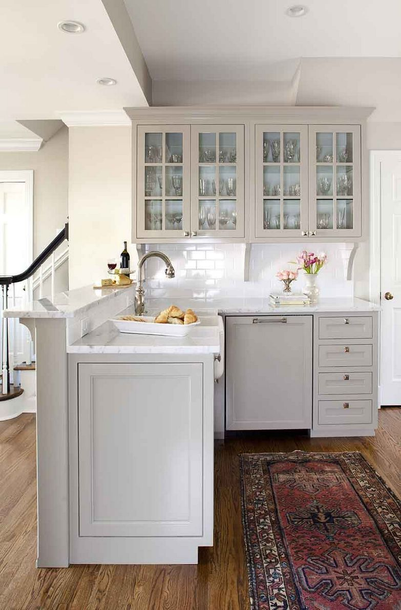 Grey kitchen cabinet ideas. In case you're considering remodeling your kitchen...