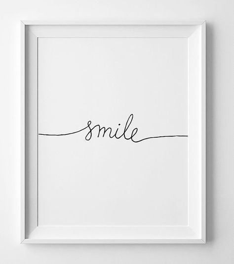 Smile Poster, Nursery Printable Wall Art, Minimalist Scandinavian Print, Home Decor, Digital Wall Art, Printable Art, Scripture Print
